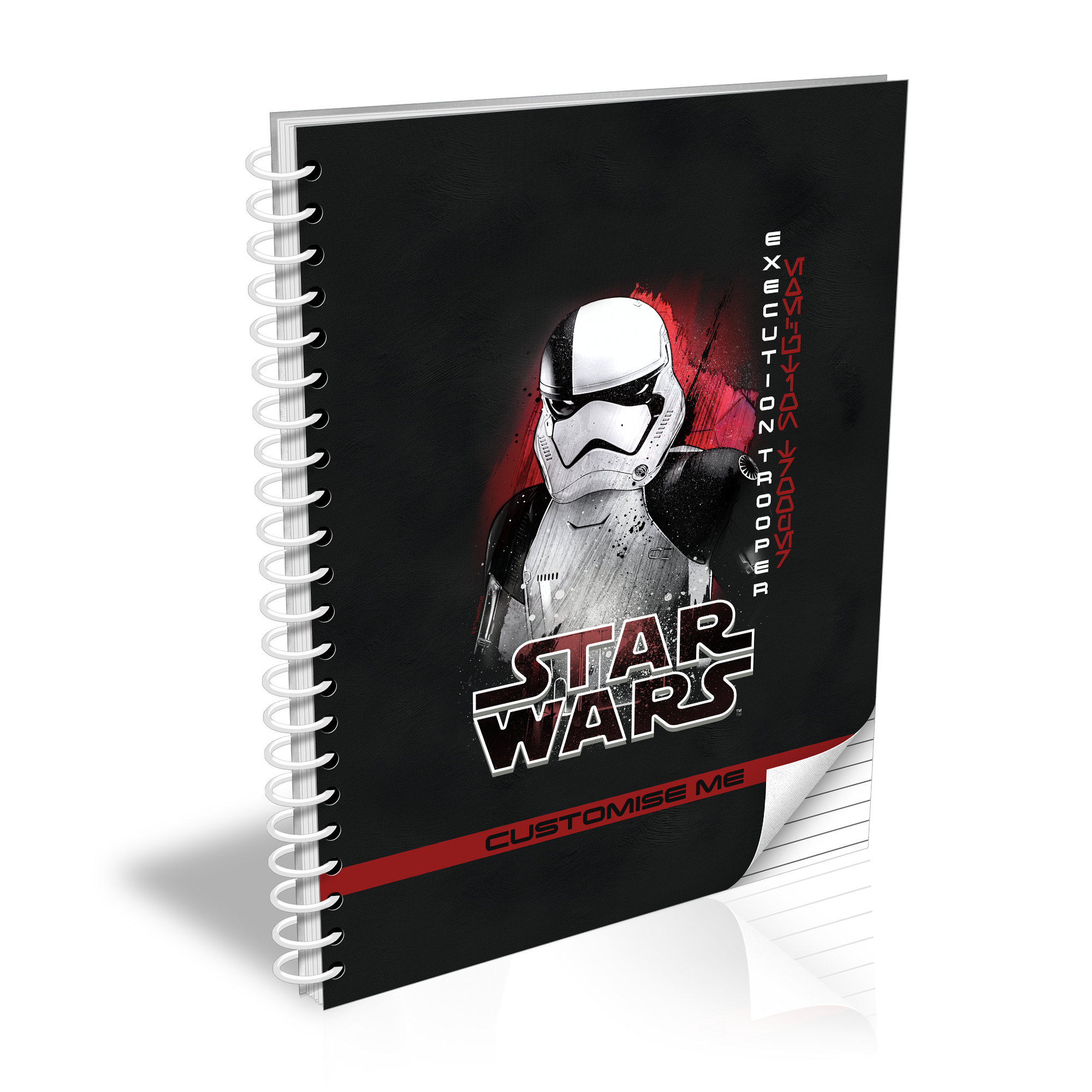 Star Wars Execution Trooper Last Jedi Spray Paint A5 Notebook