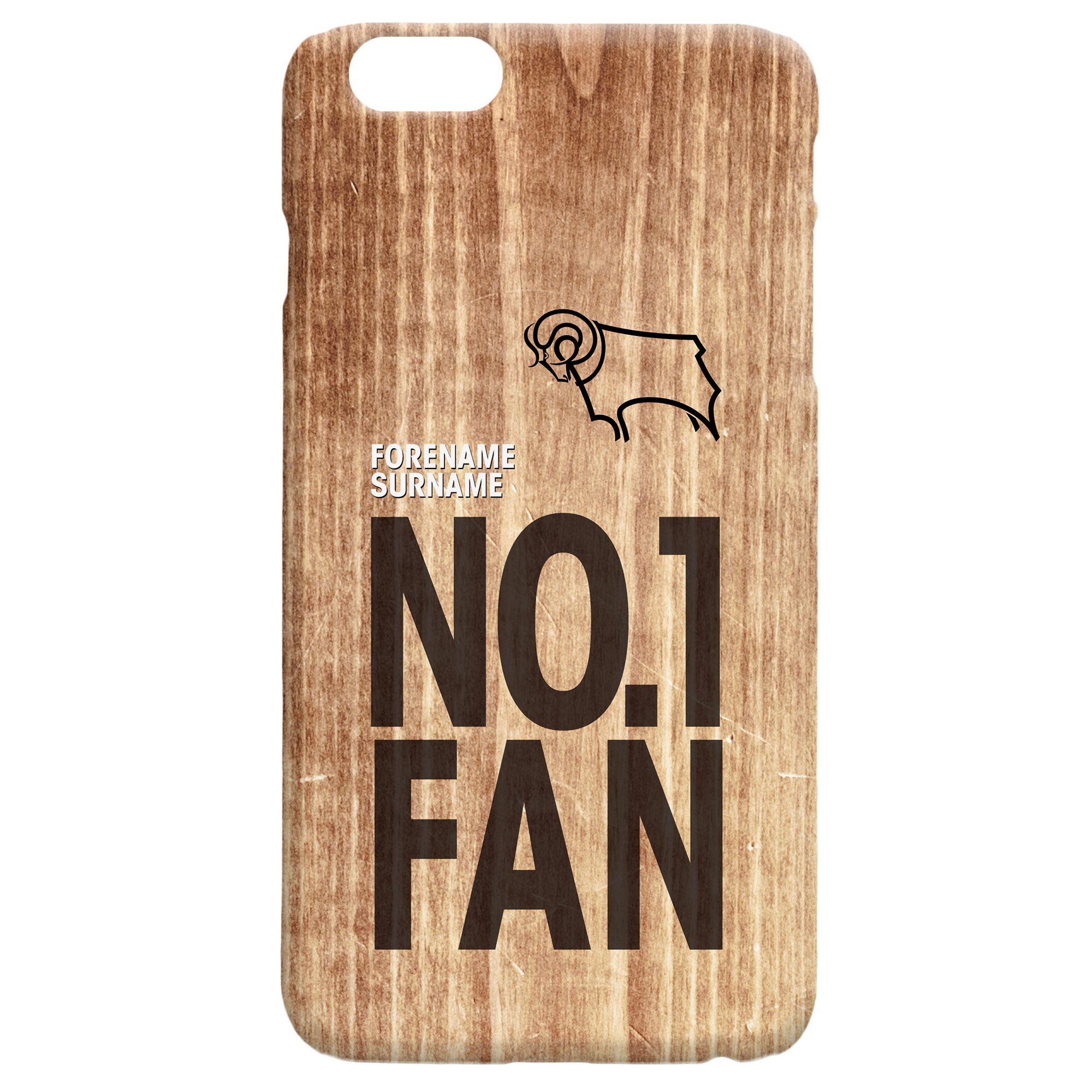 Derby County No 1 Fan Hard Back Phone Case
