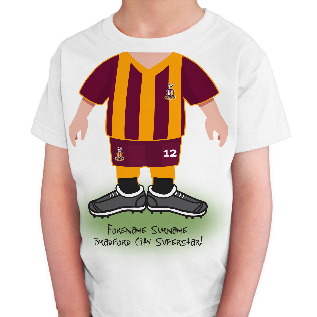Bradford City AFC Kids Use Your Head T-Shirt