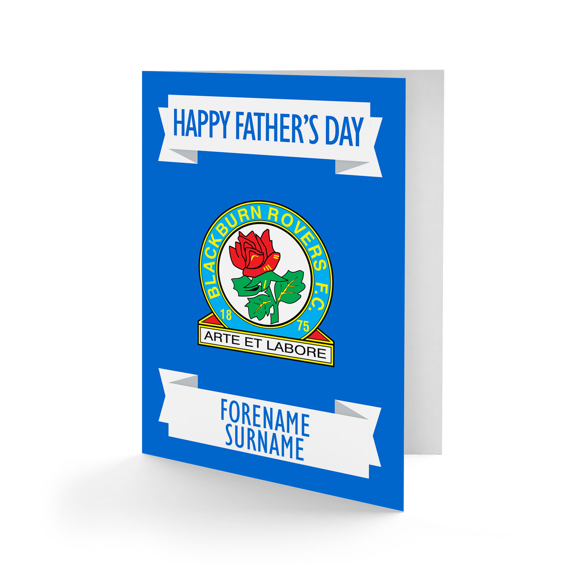 Blackburn Rovers FC Crest Father's Day Card