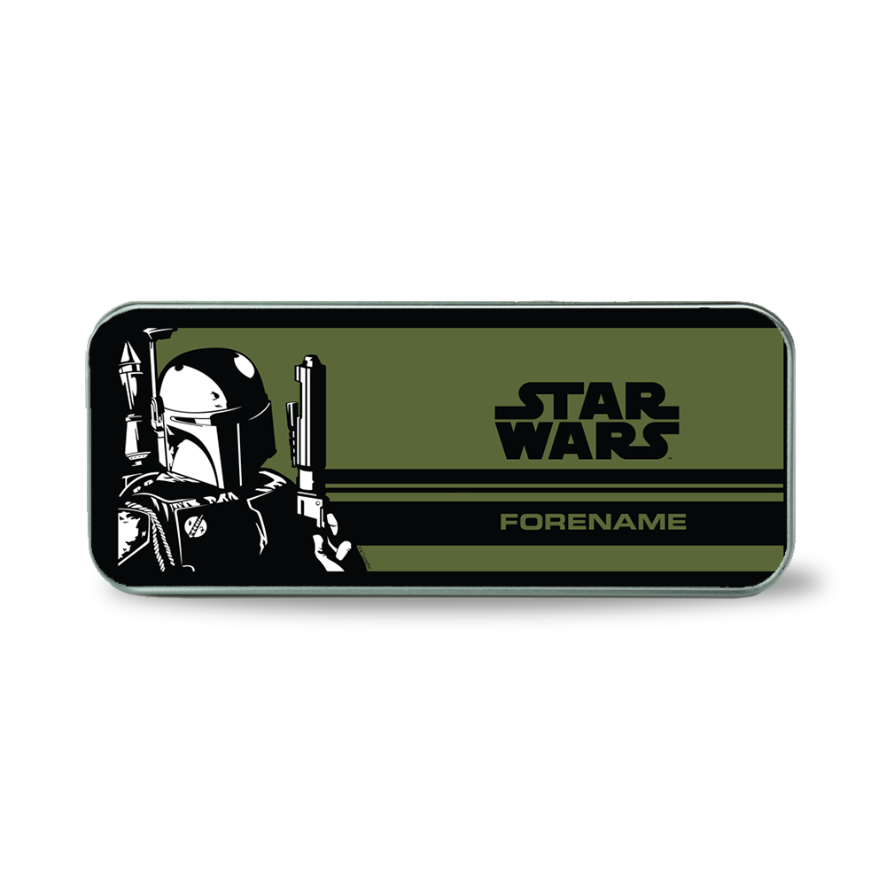 Star Wars Boba Pop Art Silver Pencil Tin