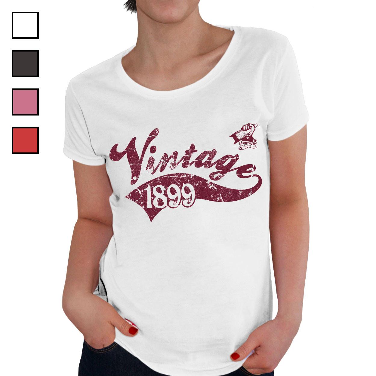 Scunthorpe United FC Ladies Vintage T-Shirt