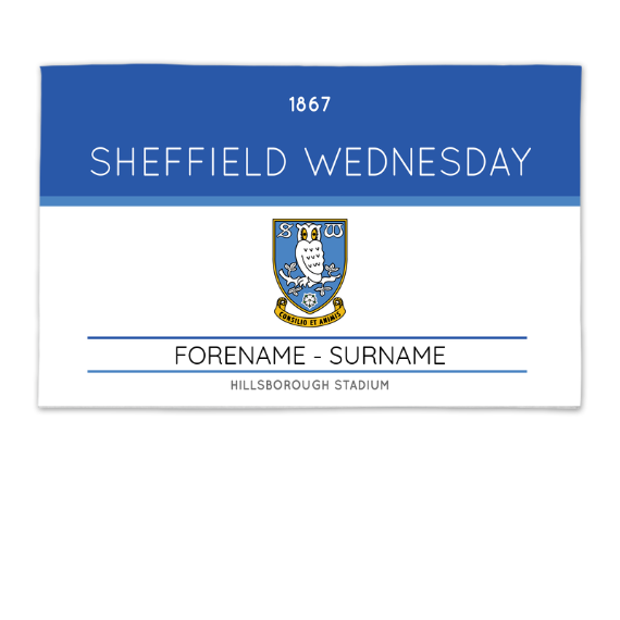 Sheffield Wednesday FC Minimal Ticket 8ft x 5ft Banner