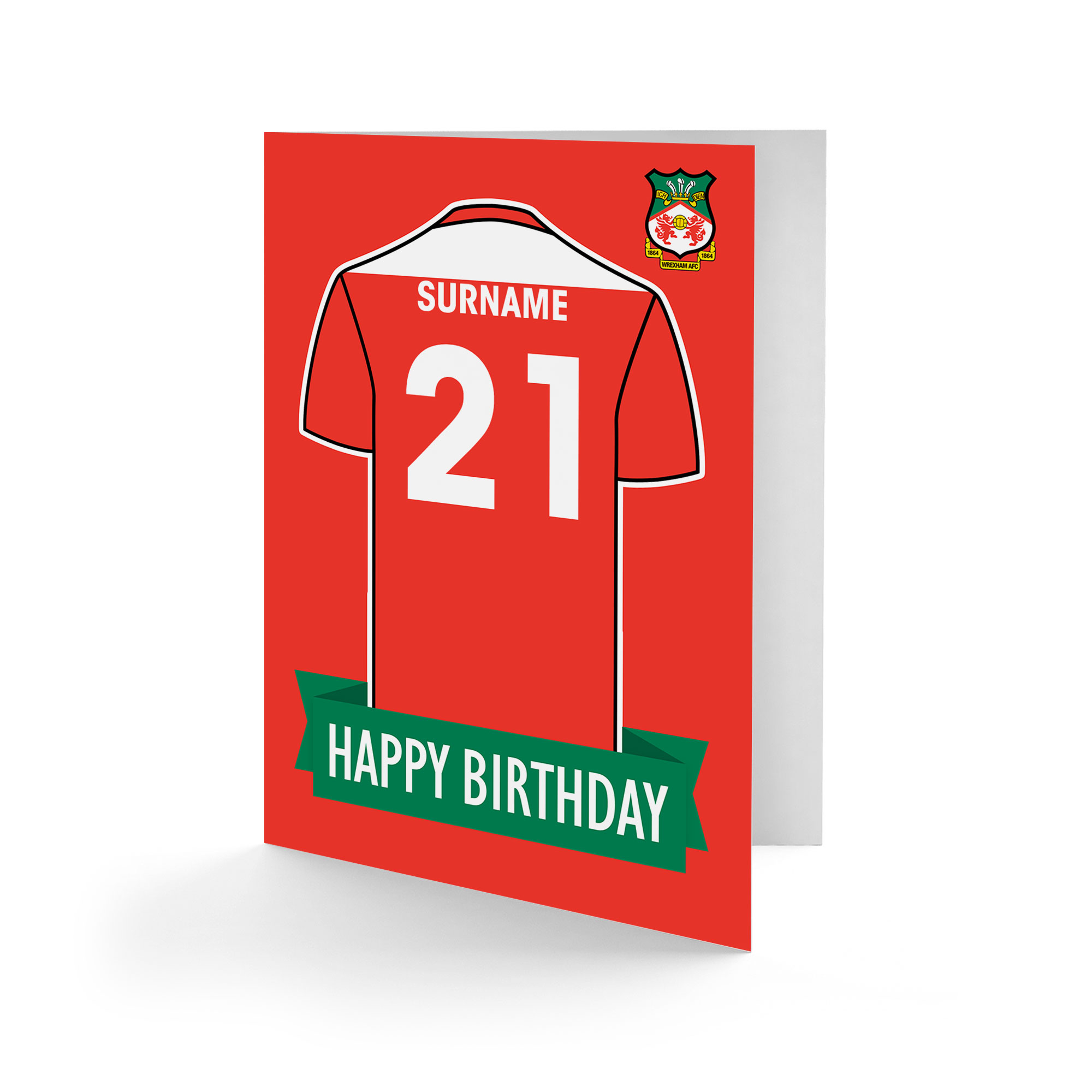 Wrexham AFC Shirt Birthday Card