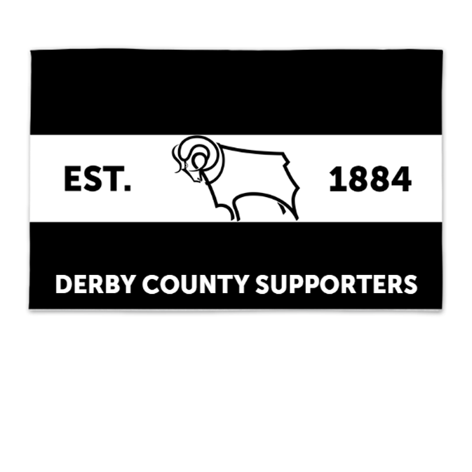 Derby County Supporters 8ft x 5ft Banner