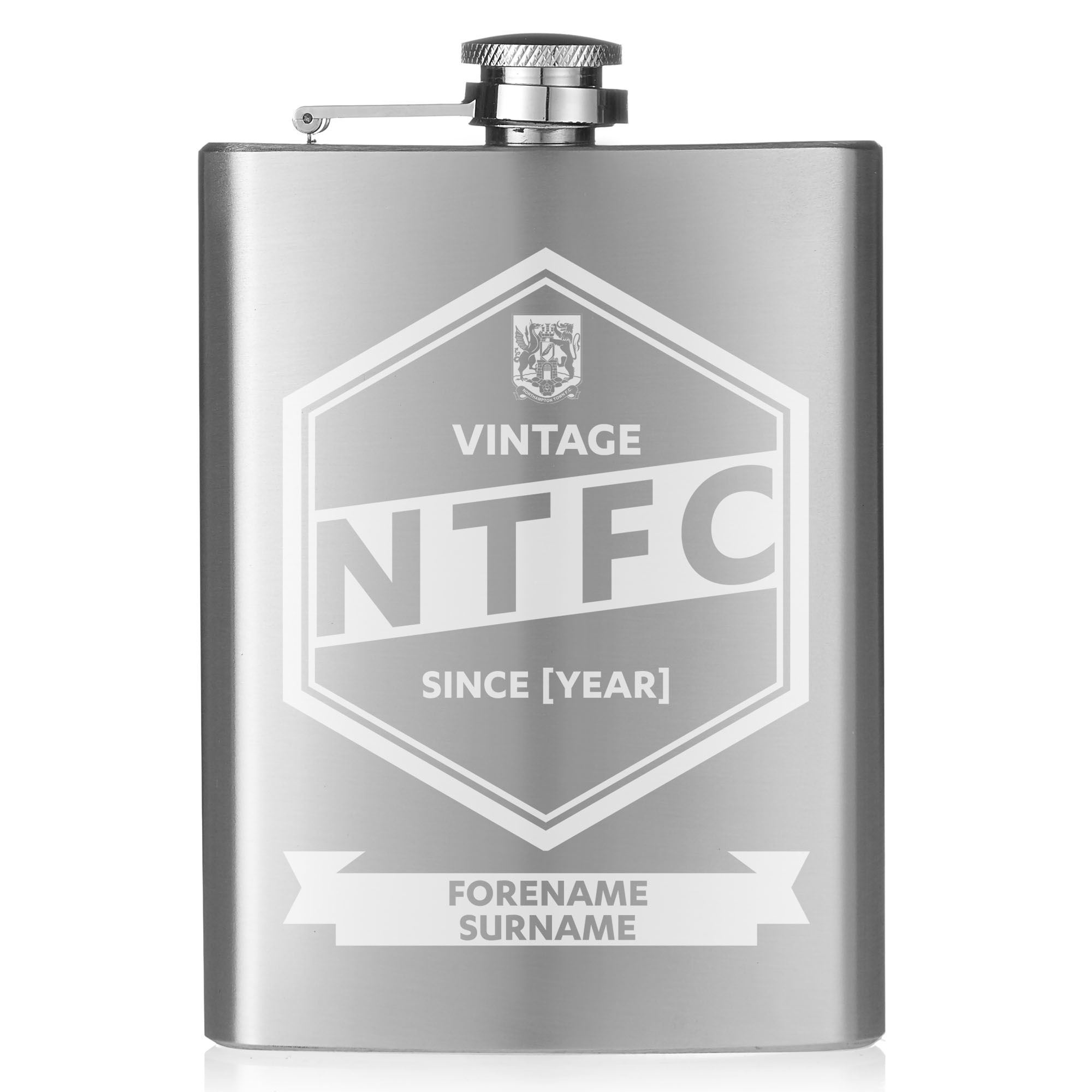 Northampton Town FC Vintage Hip Flask