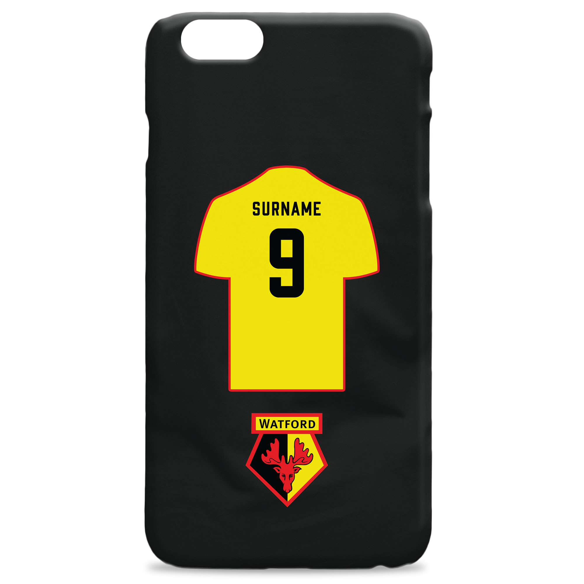 Watford FC Shirt Hard Back Phone Case