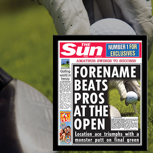 The Sun Golf News Single Page Print - Male