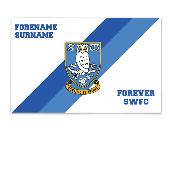 Sheffield Wednesday FC Forever 8ft x 5ft Banner