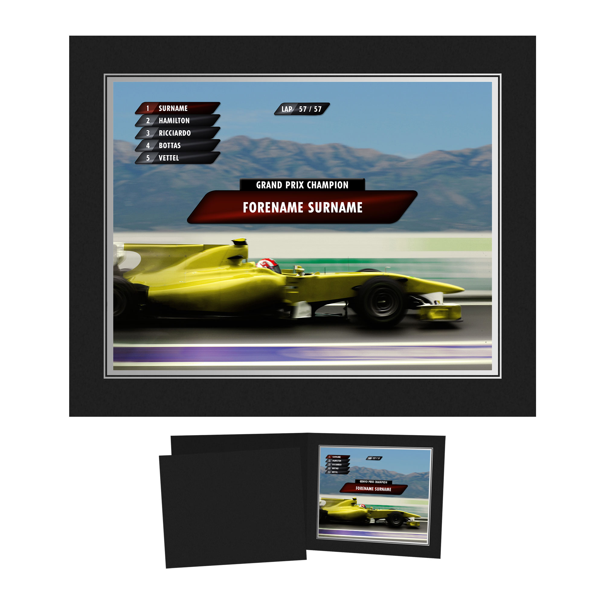 Personalised Grand Prix Photo Folder