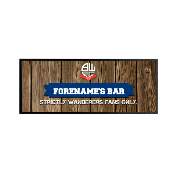 Bolton Wanderers FC Wood Name Regular Bar Runner