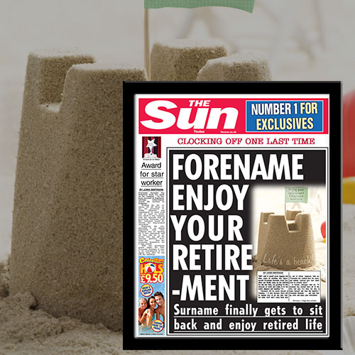 The Sun Retirement News Single Page Print - Male
