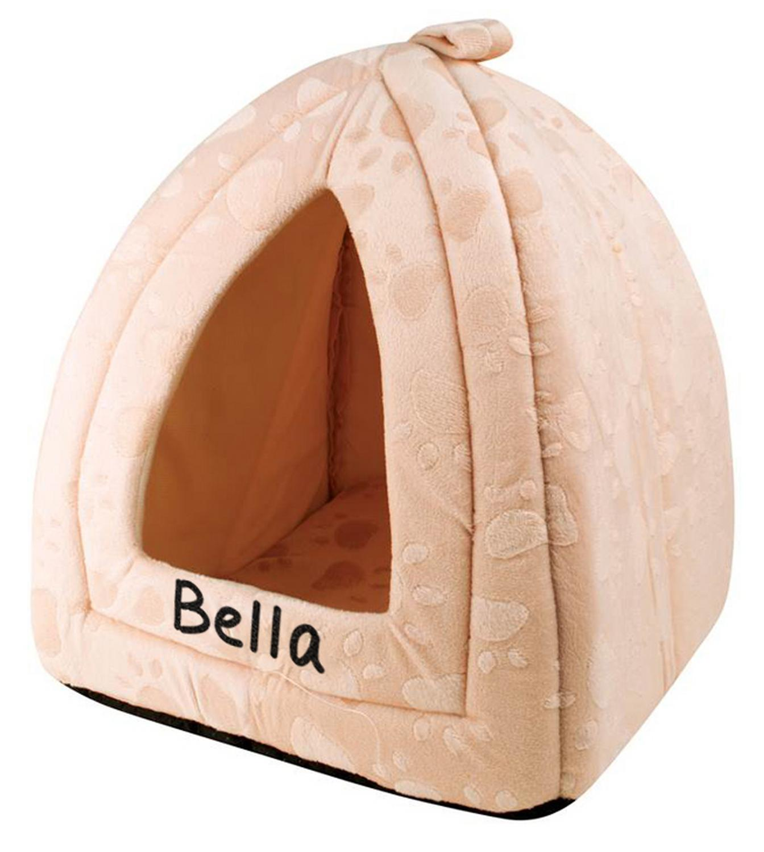 Cream Pyramid Pet Bed