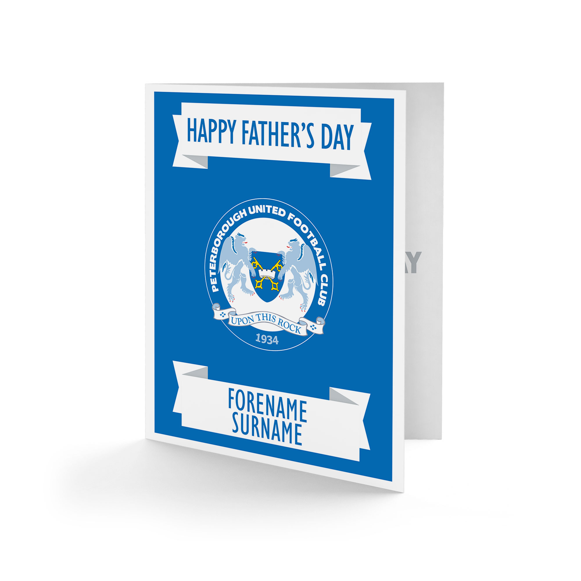 Peterborough United FC Crest Father's Day Card