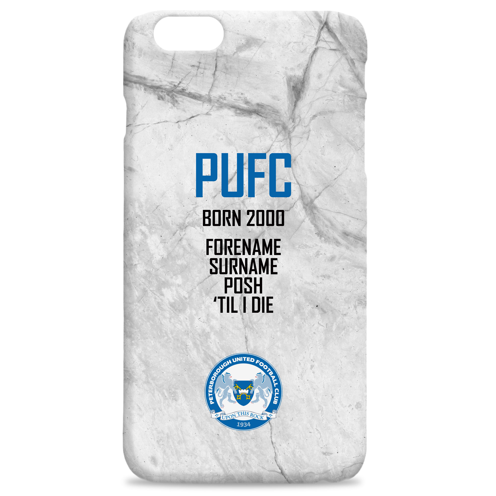 Peterborough United FC 'Til I Die Hard Back Phone Case