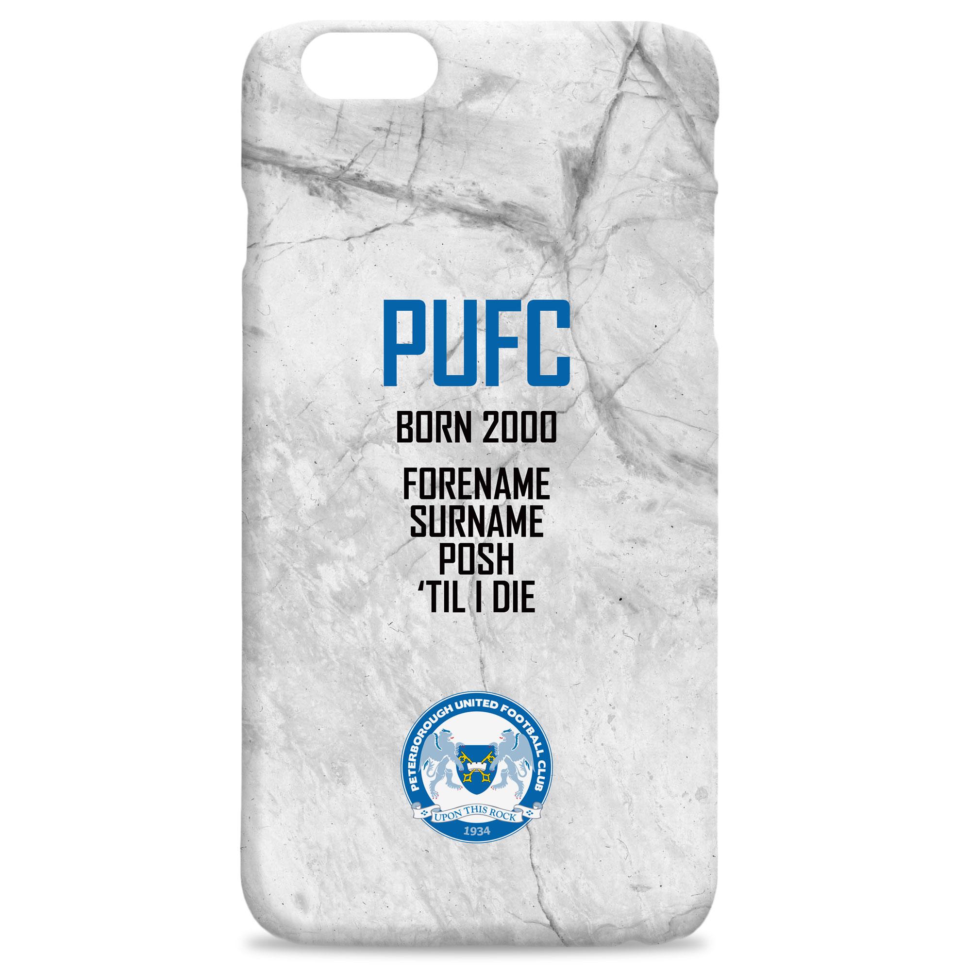 Peterborough United FC 'Til I Die Hard Back Phone Case