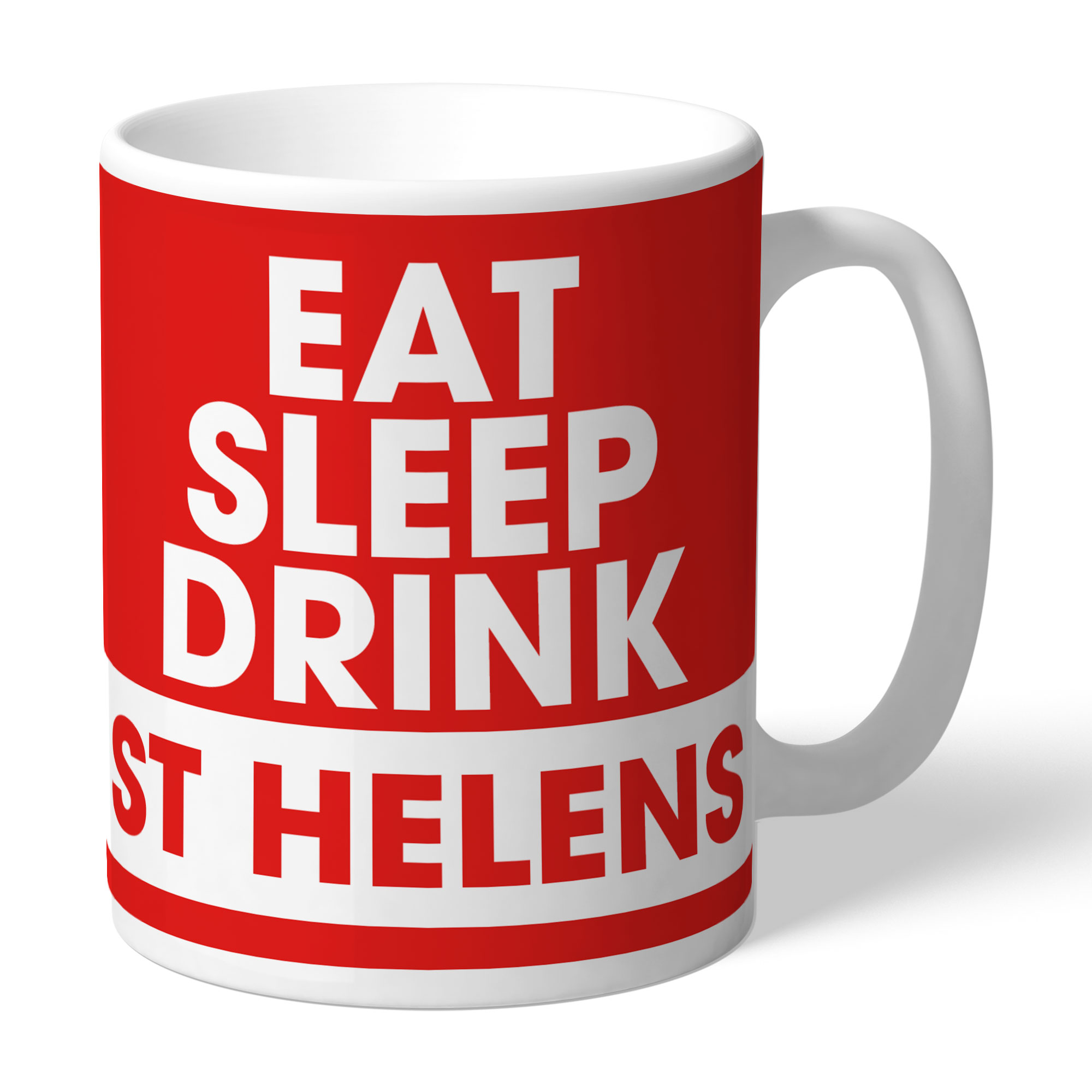 St Helens Eat Sleep Drink Mug