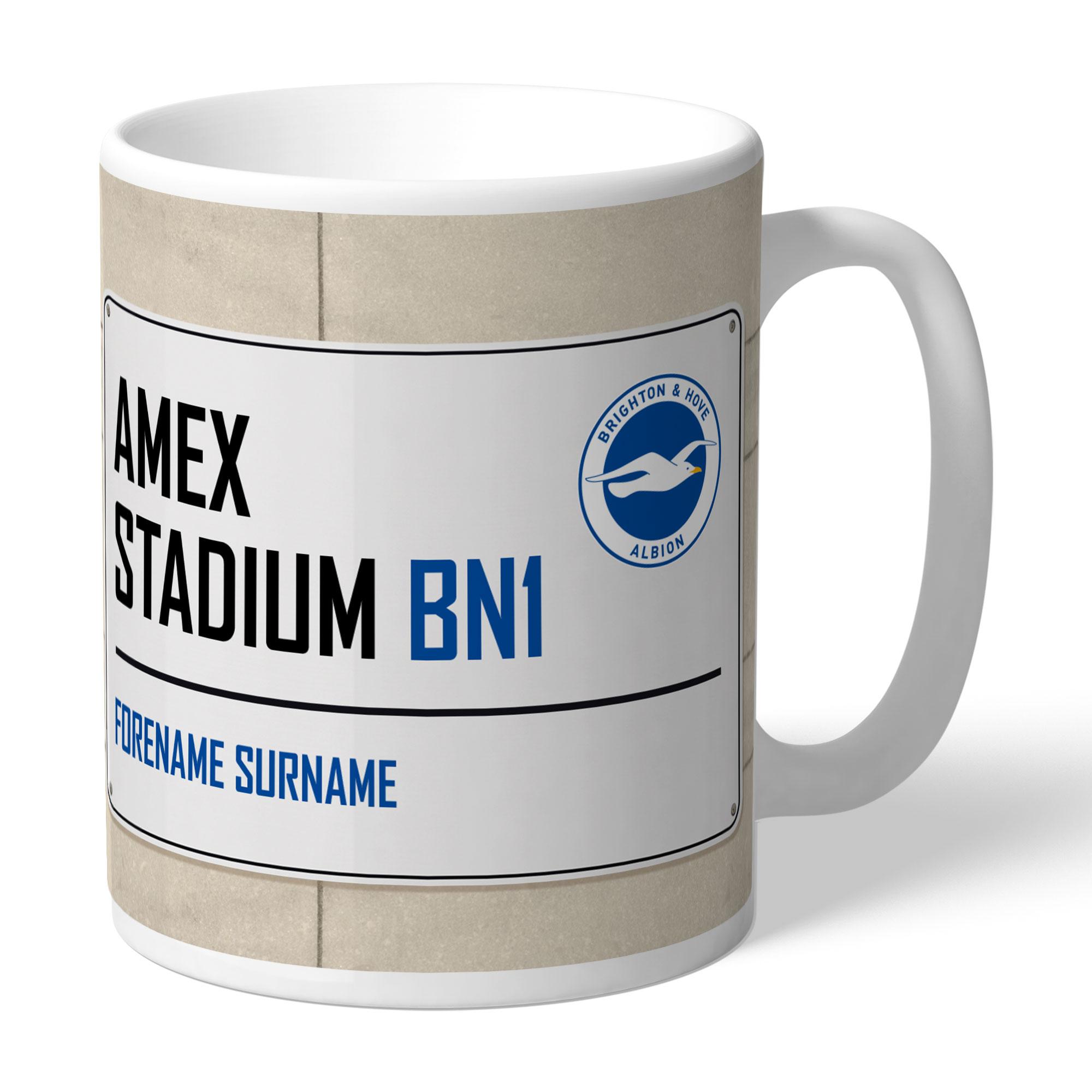Brighton & Hove Albion FC Street Sign Mug