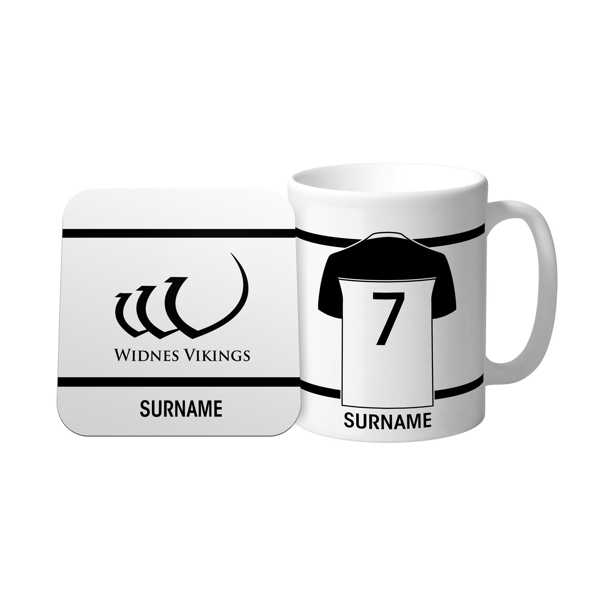 Widnes Vikings Shirt Mug & Coaster Set