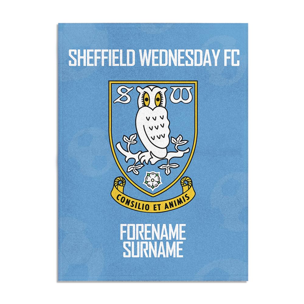 Sheffield Wednesday FC Crest Blanket (100cm X 75cm)