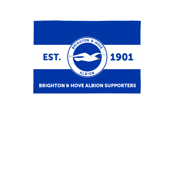 Brighton & Hove Albion FC Supporters 3ft x 2ft Banner