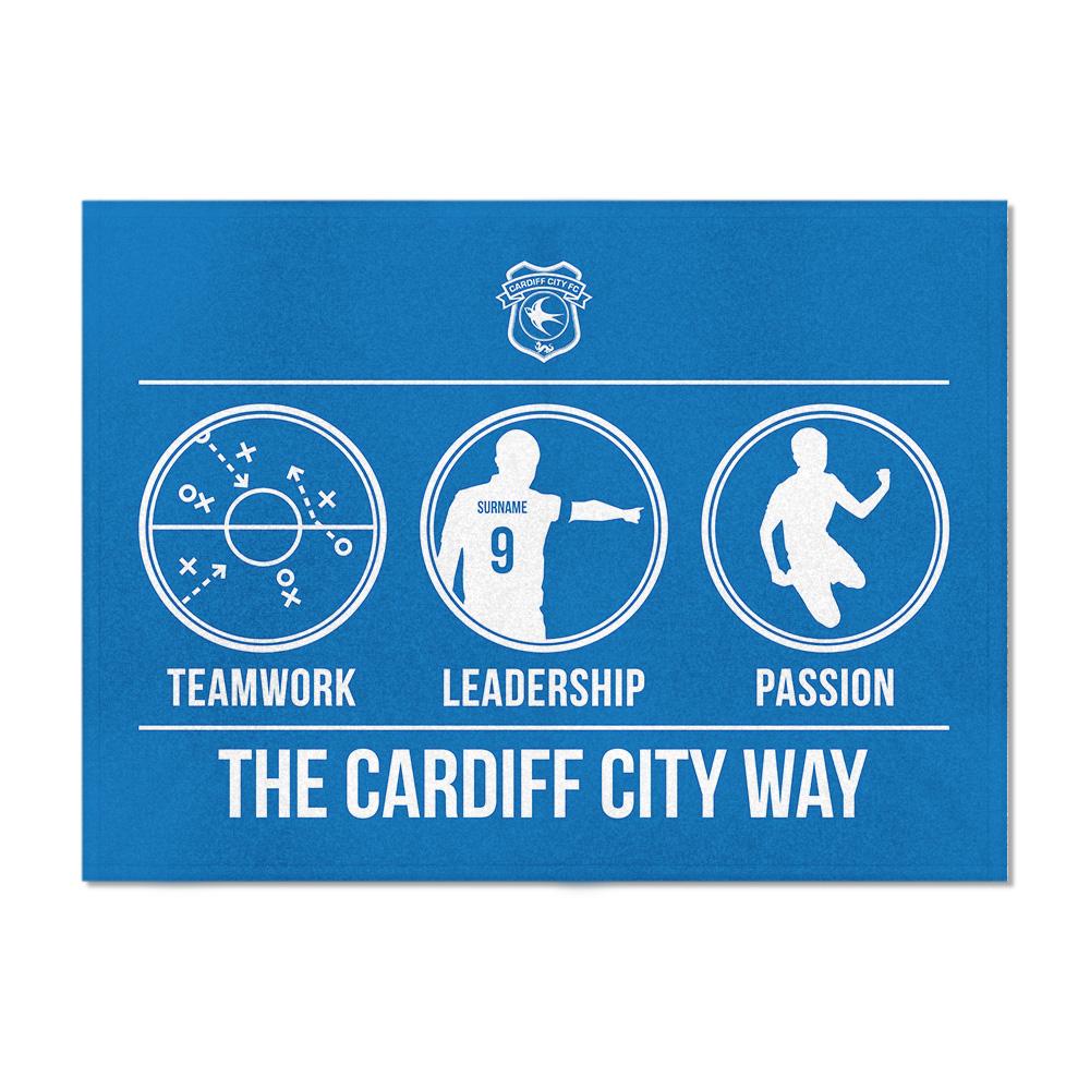 Cardiff City FC Way Blanket (150cm x 110cm)