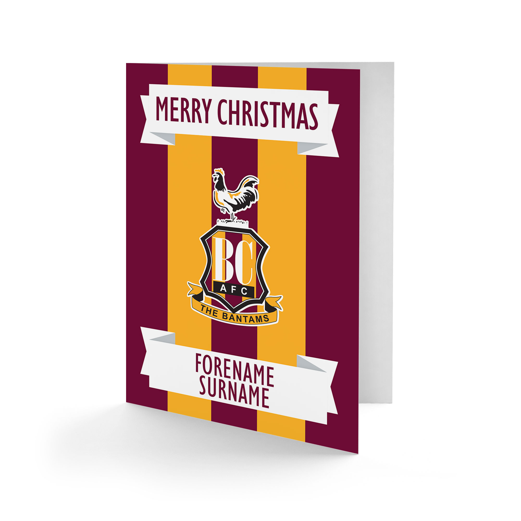 Bradford City AFC Crest Christmas Card