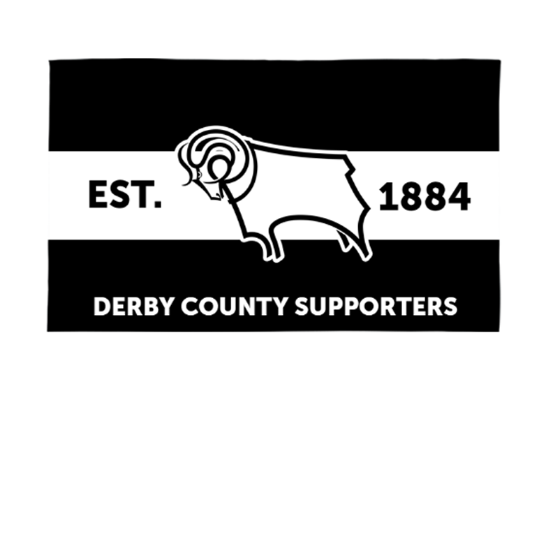 Derby County Supporters 5ft x 3ft Banner