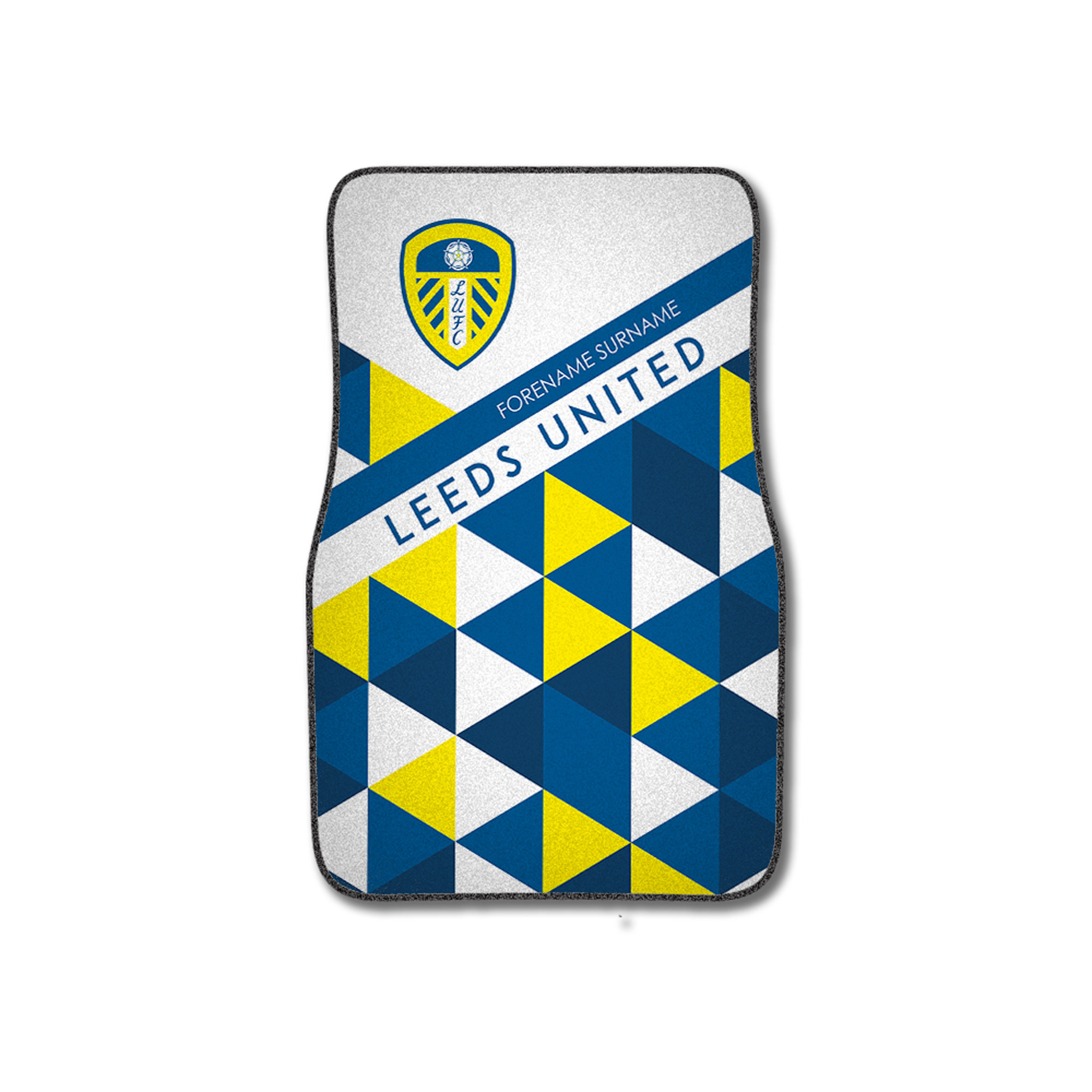 Leeds United FC Patterned Front Car Mat