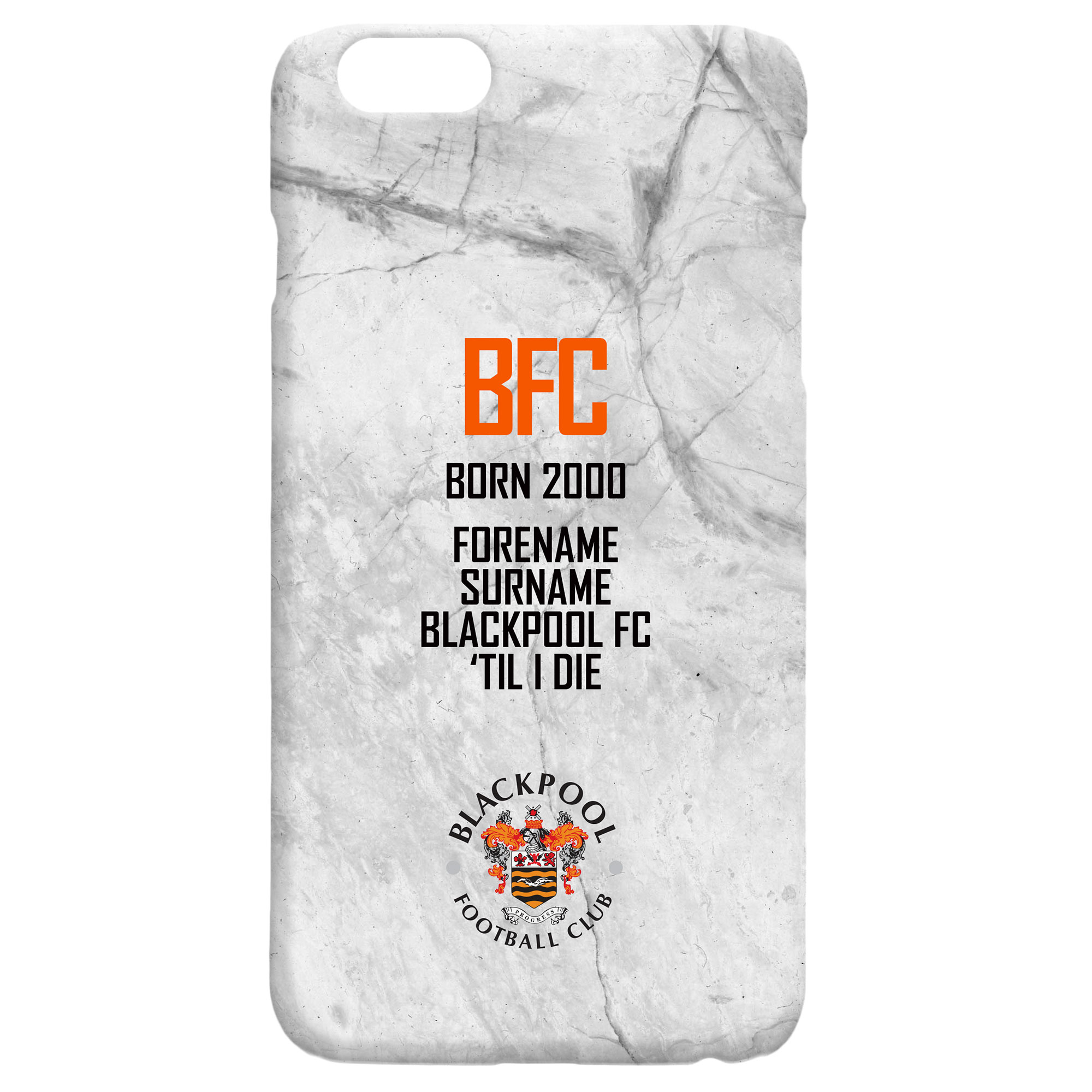 Blackpool FC 'Til I Die Hard Back Phone Case