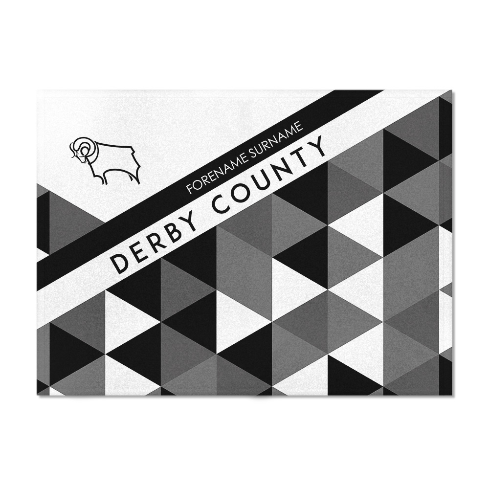 Derby County Patterned Blanket (100cm X 75cm)