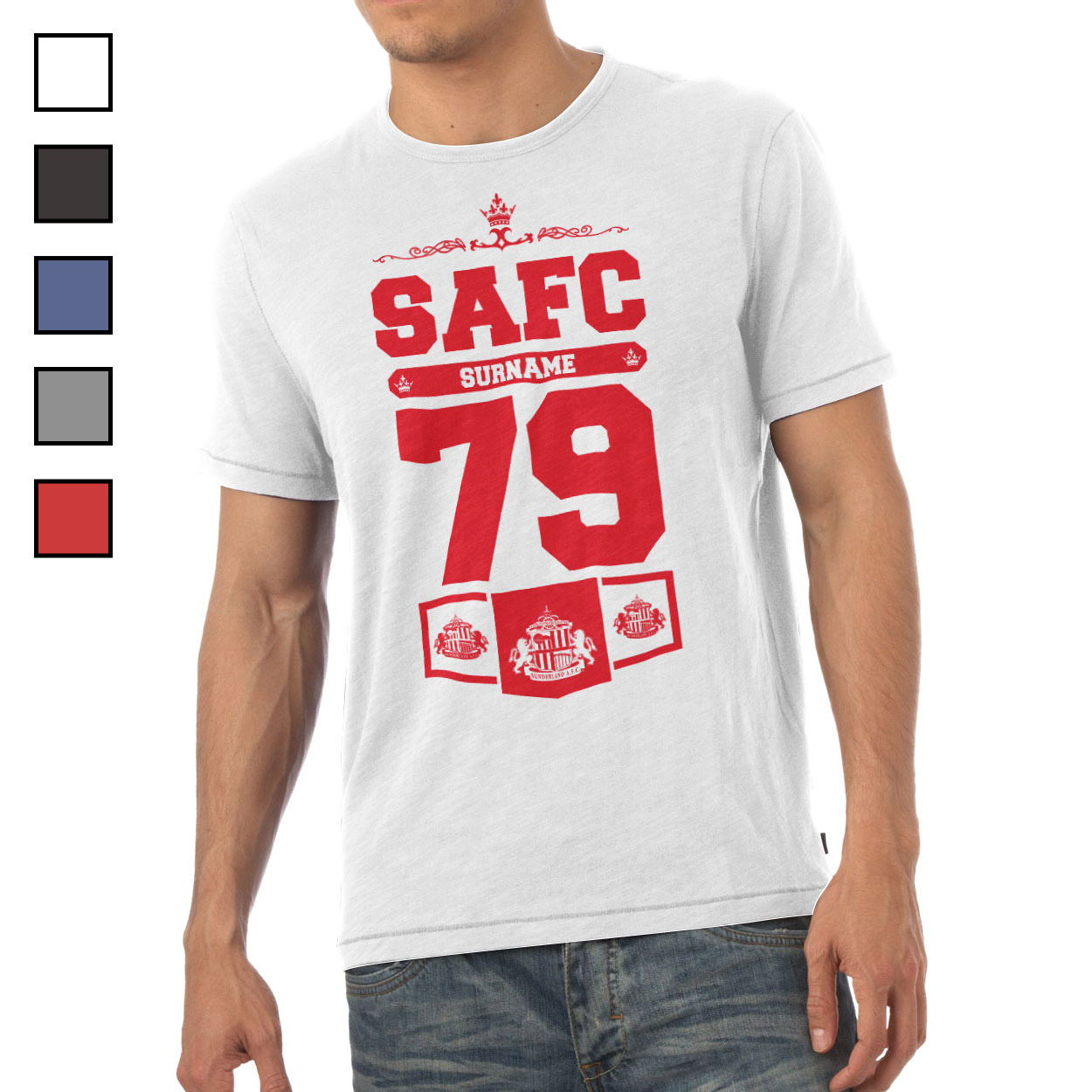 Sunderland AFC Mens Club T-Shirt