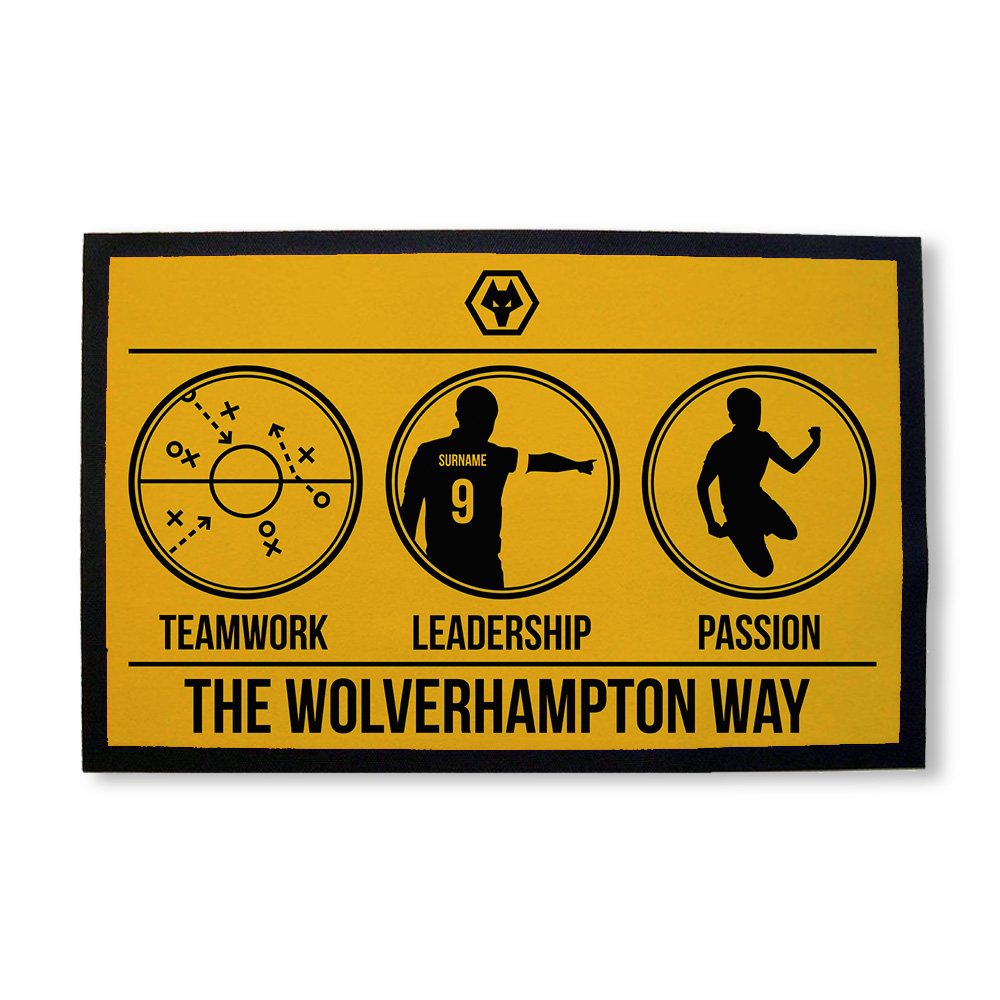 Wolves Way Door Mat
