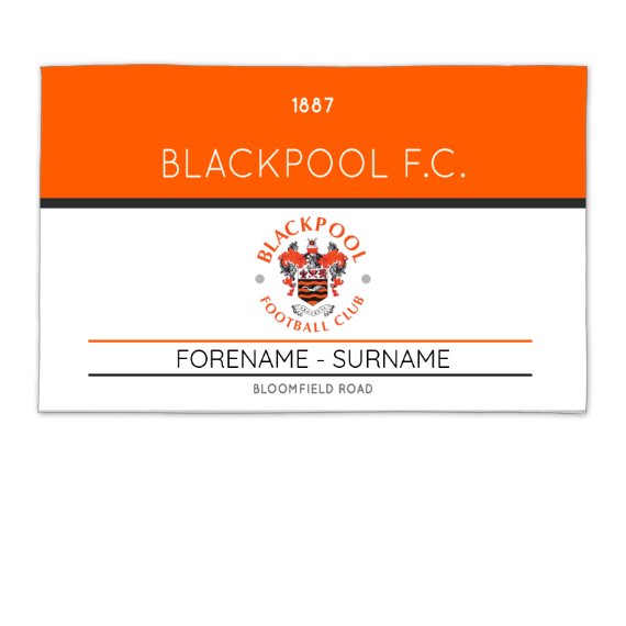 Blackpool Minimal Ticket 8ft x 5ft Banner