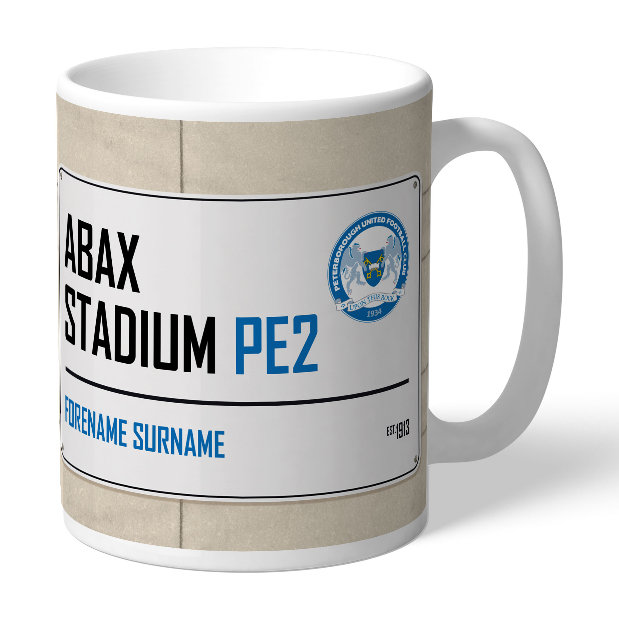 Peterborough United FC Street Sign Mug