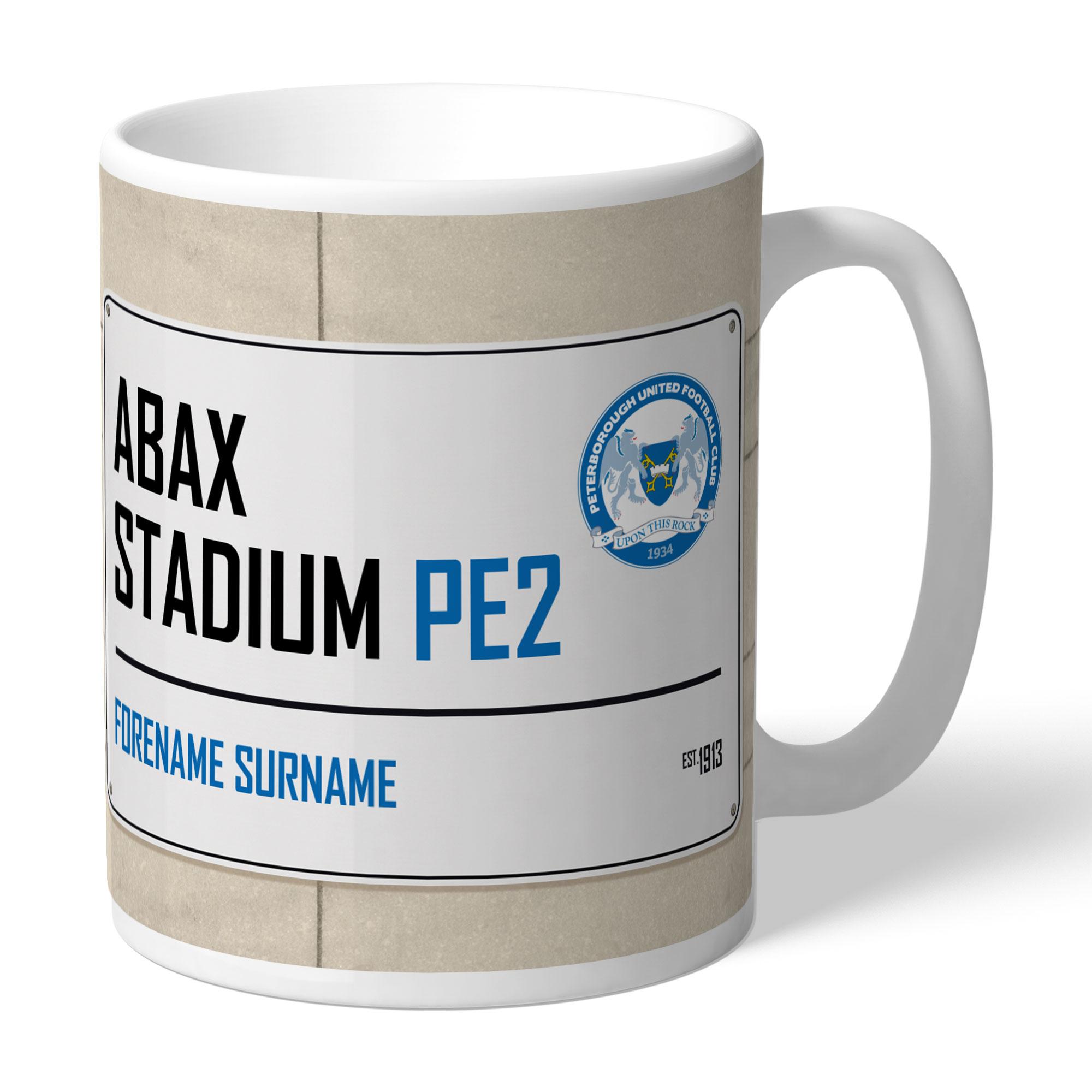 Peterborough United FC Street Sign Mug