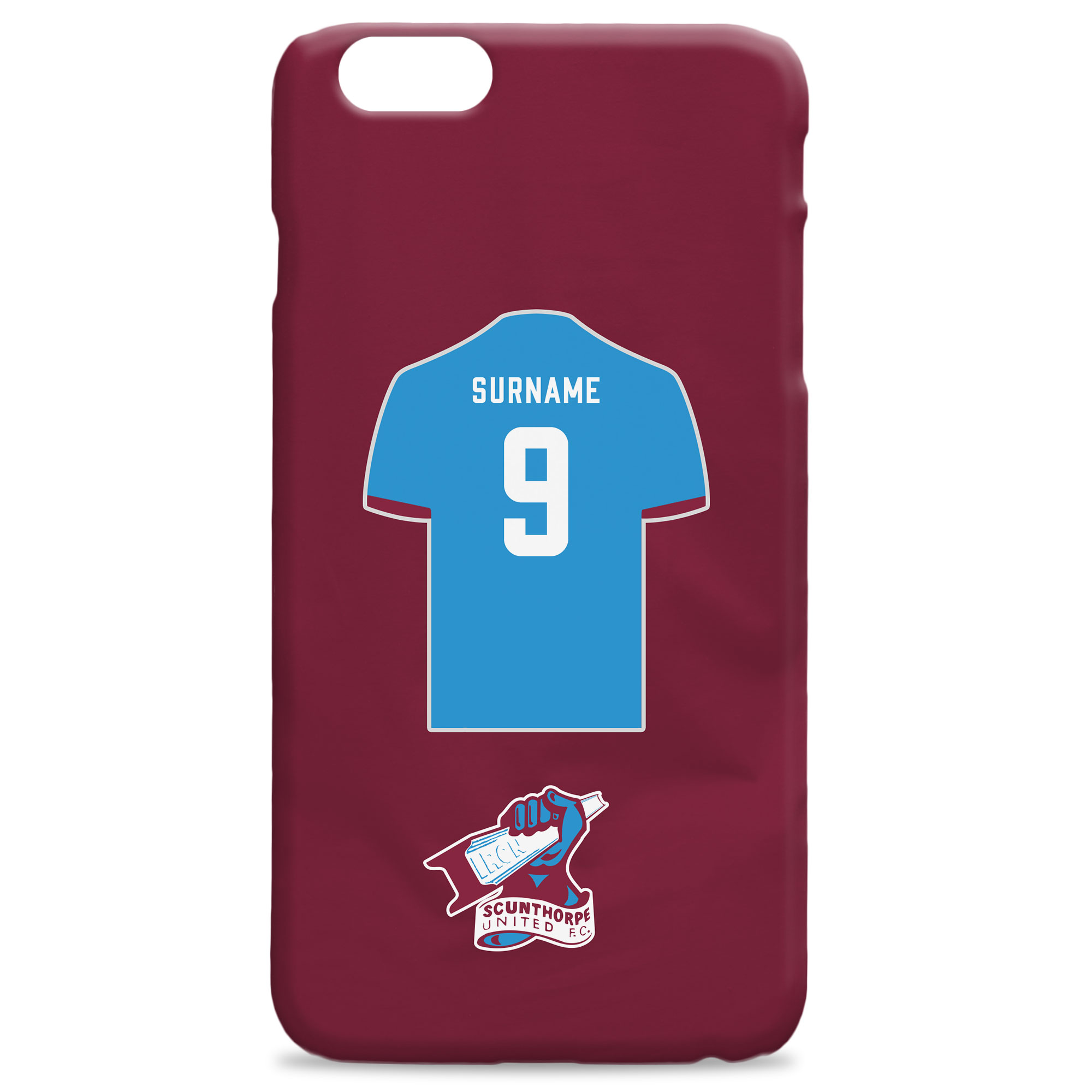 Scunthorpe United FC Shirt Hard Back Phone Case