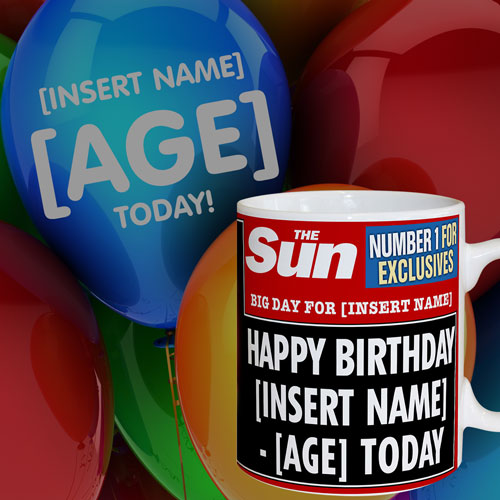 The Sun Birthday Mug