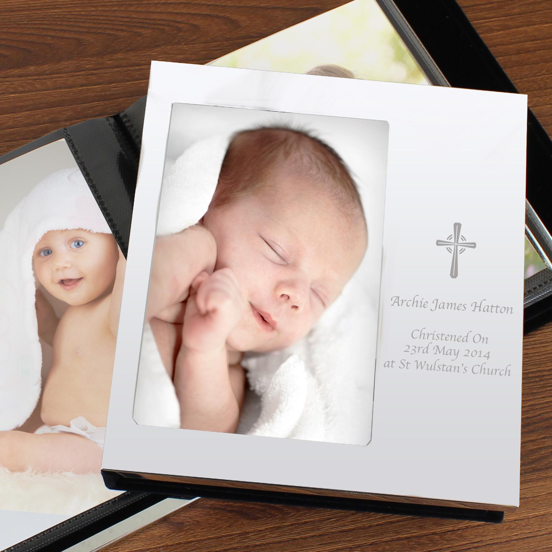 Engraved Cross Photo Album