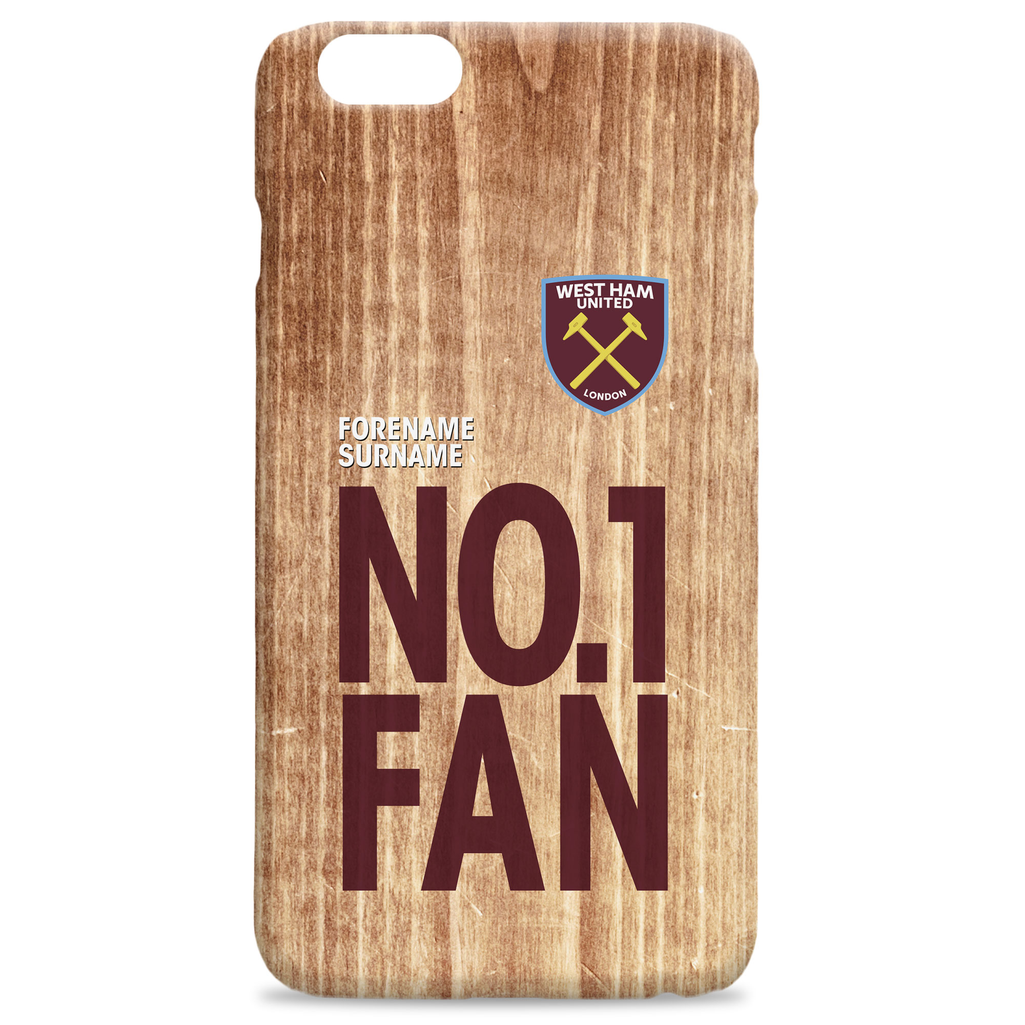 West Ham United FC No 1 Fan Hard Back Phone Case