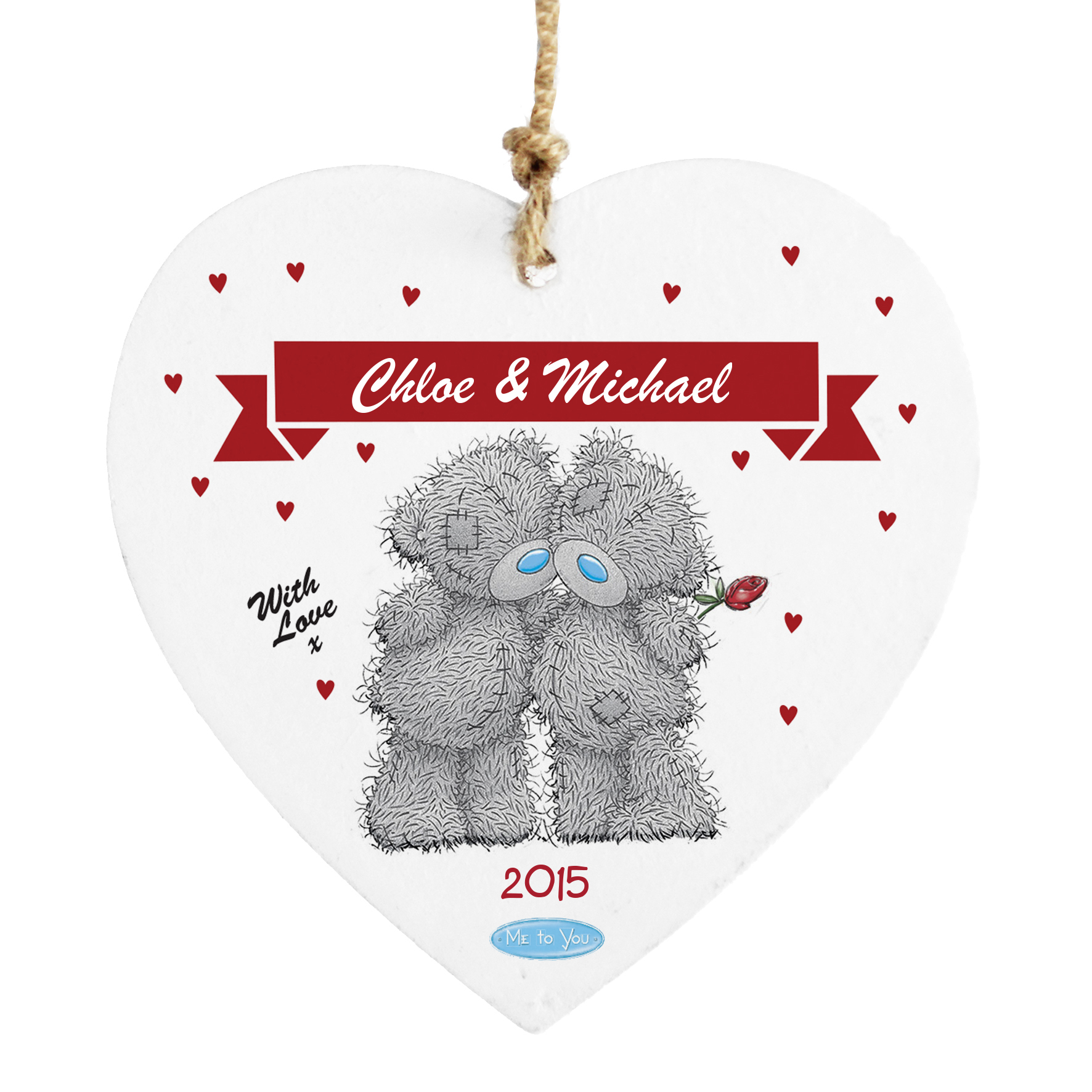 Personalised Me to You Couple Design Wooden Heart