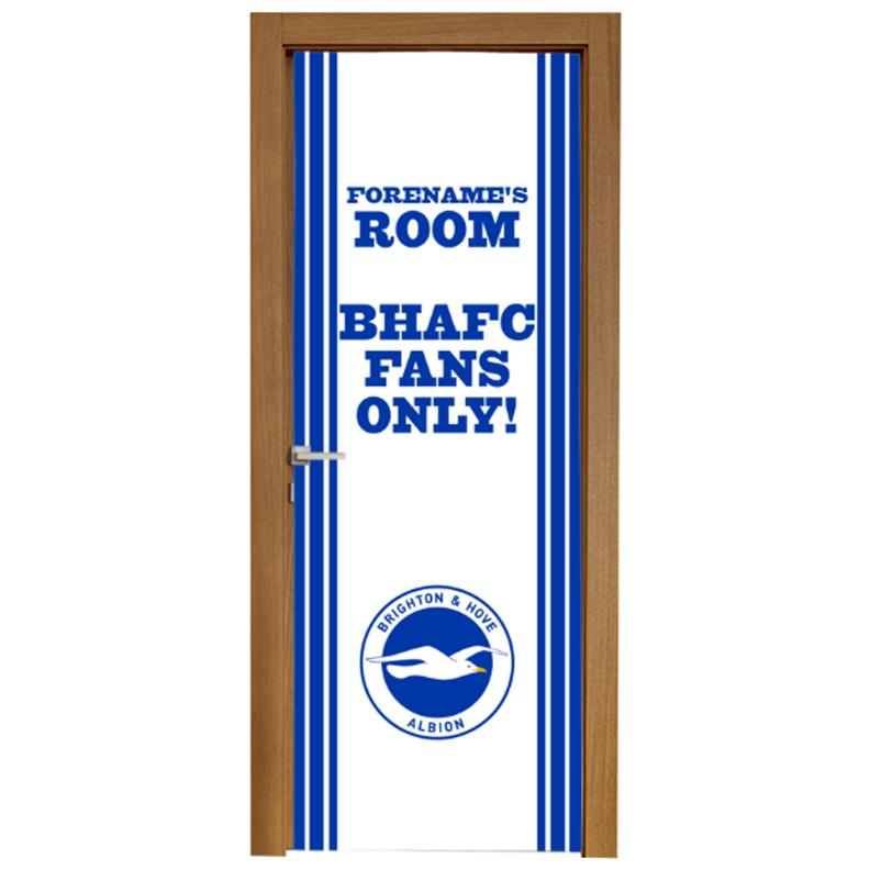 Brighton & Hove Albion FC Stripe Door Banner