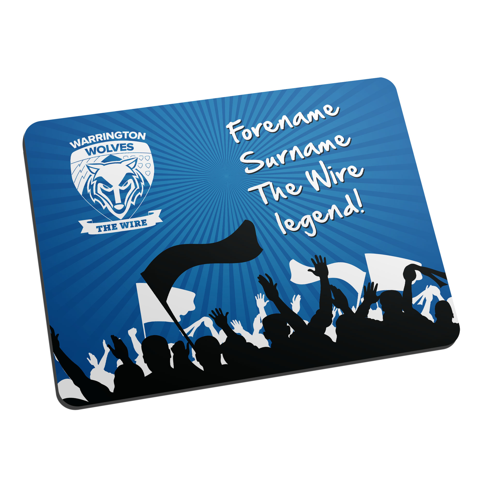 Warrington Wolves Legend Mouse Mat