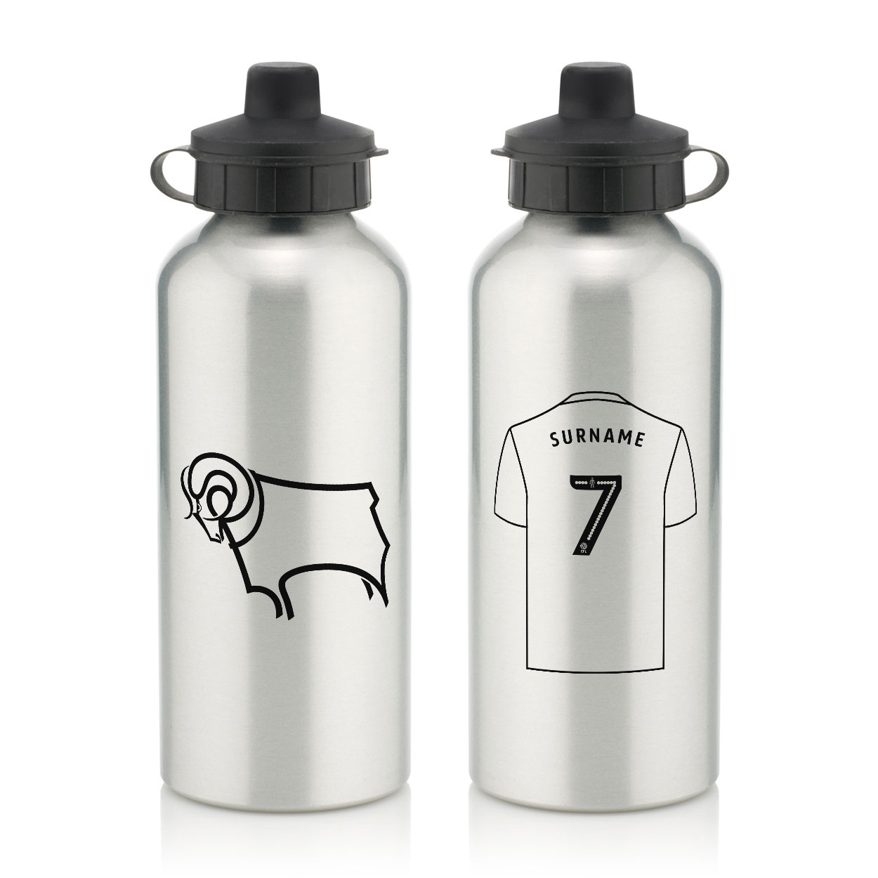Derby County Aluminium Water Bottle