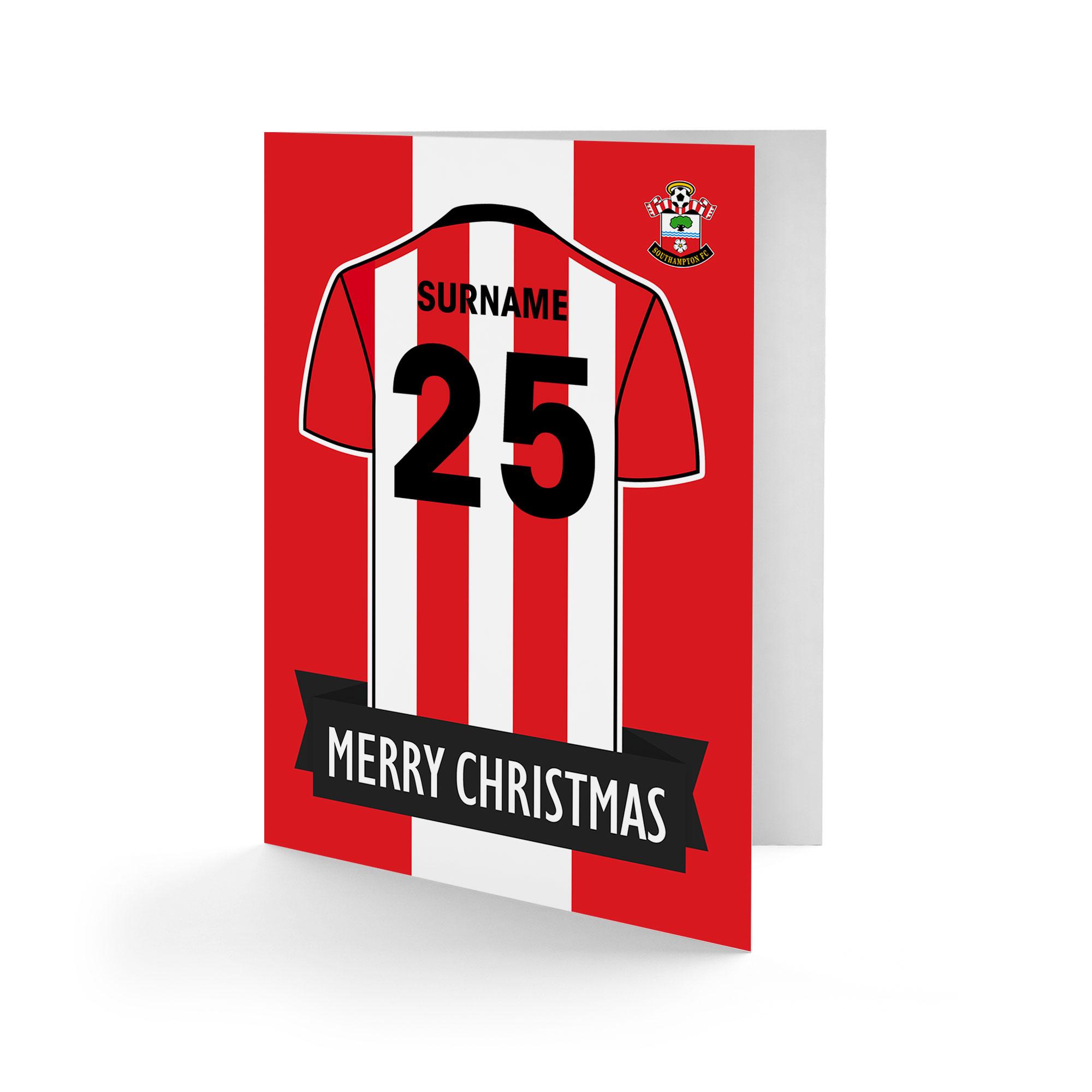 Southampton FC Shirt Christmas Card