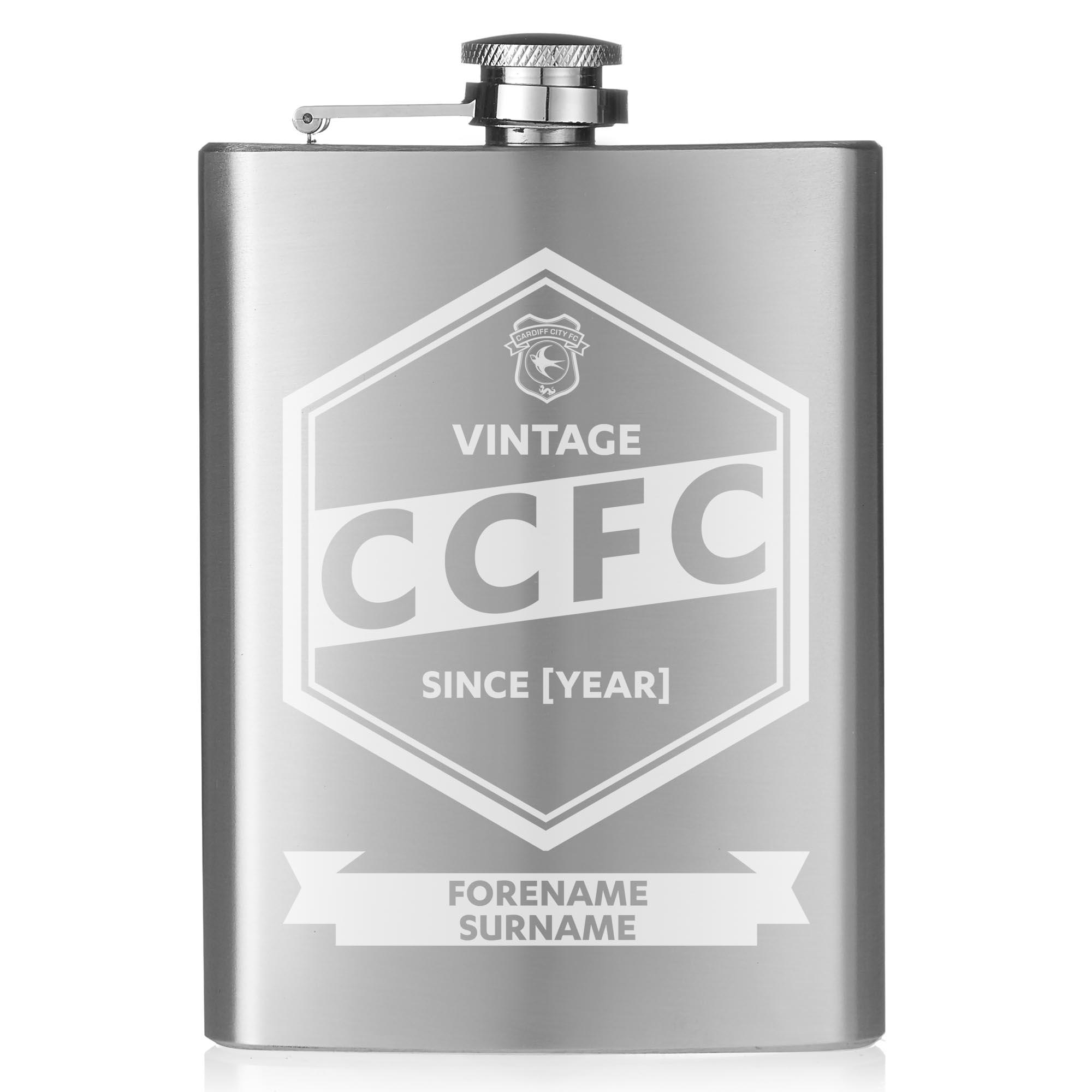 Cardiff City FC Vintage Hip Flask