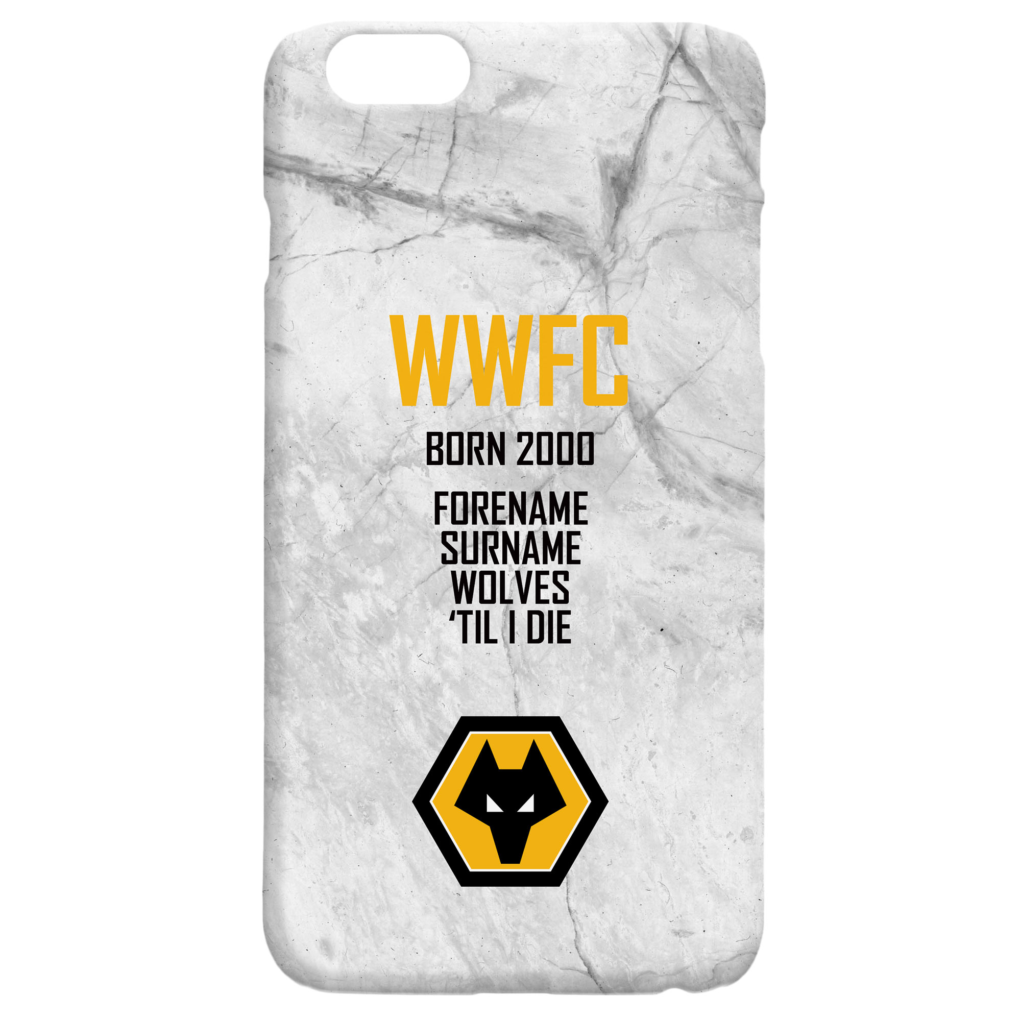 Wolves 'Til I Die Hard Back Phone Case