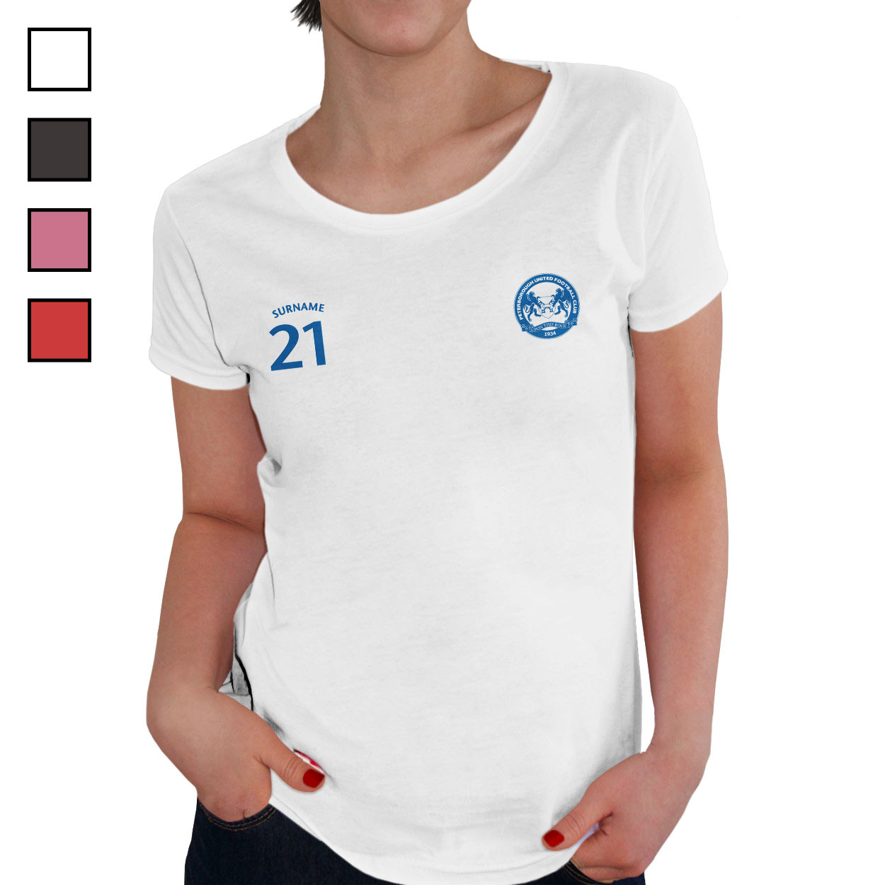 Peterborough United FC Ladies Sports T-Shirt