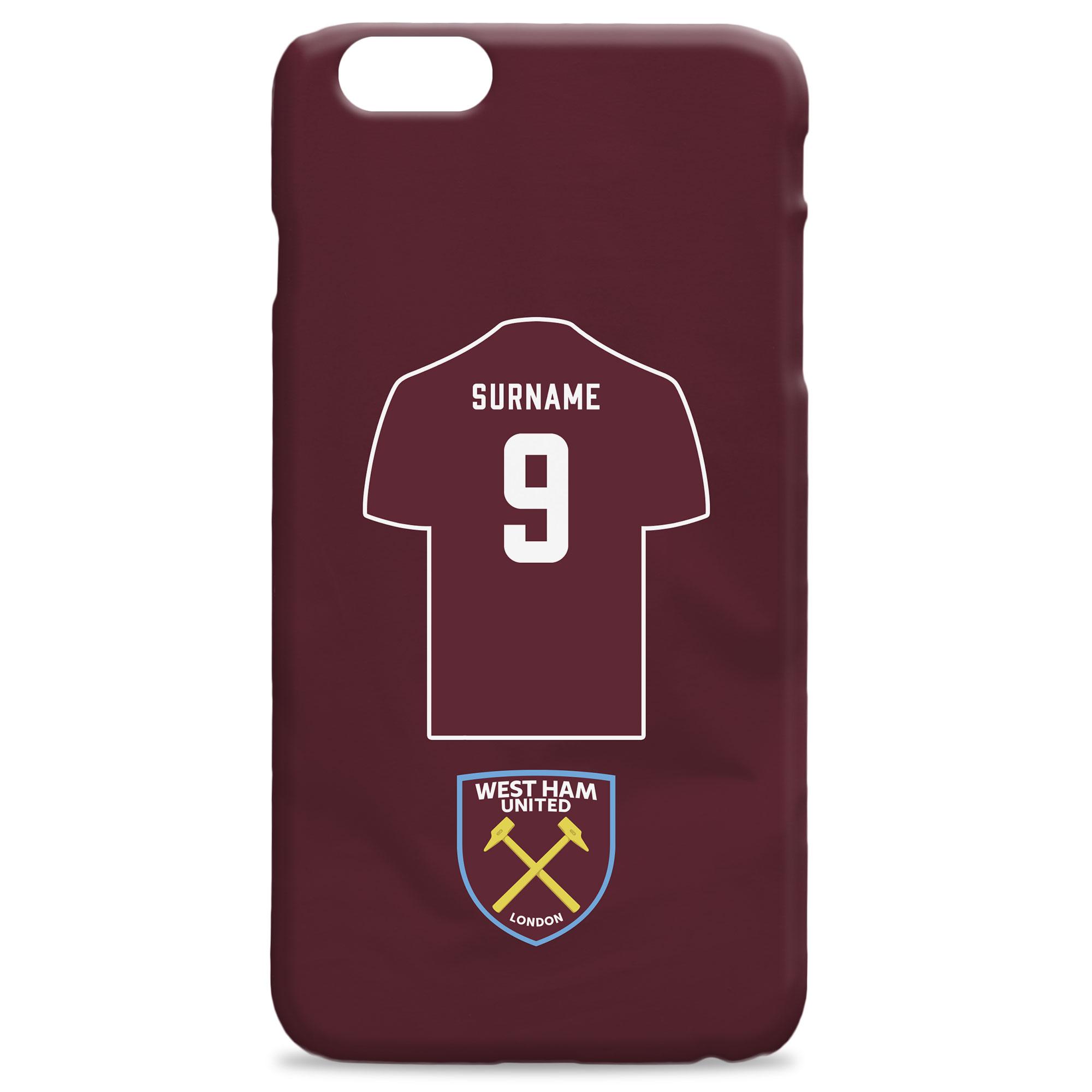 West Ham United FC Shirt Hard Back Phone Case