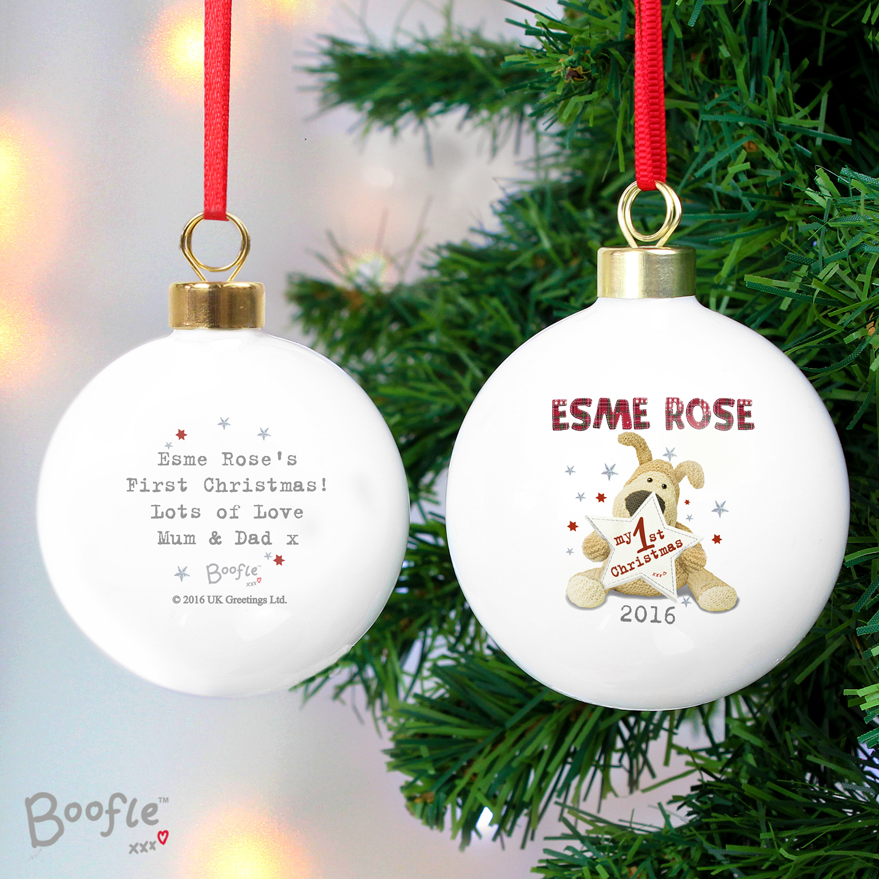 Personalised Boofle My 1st Christmas Bauble